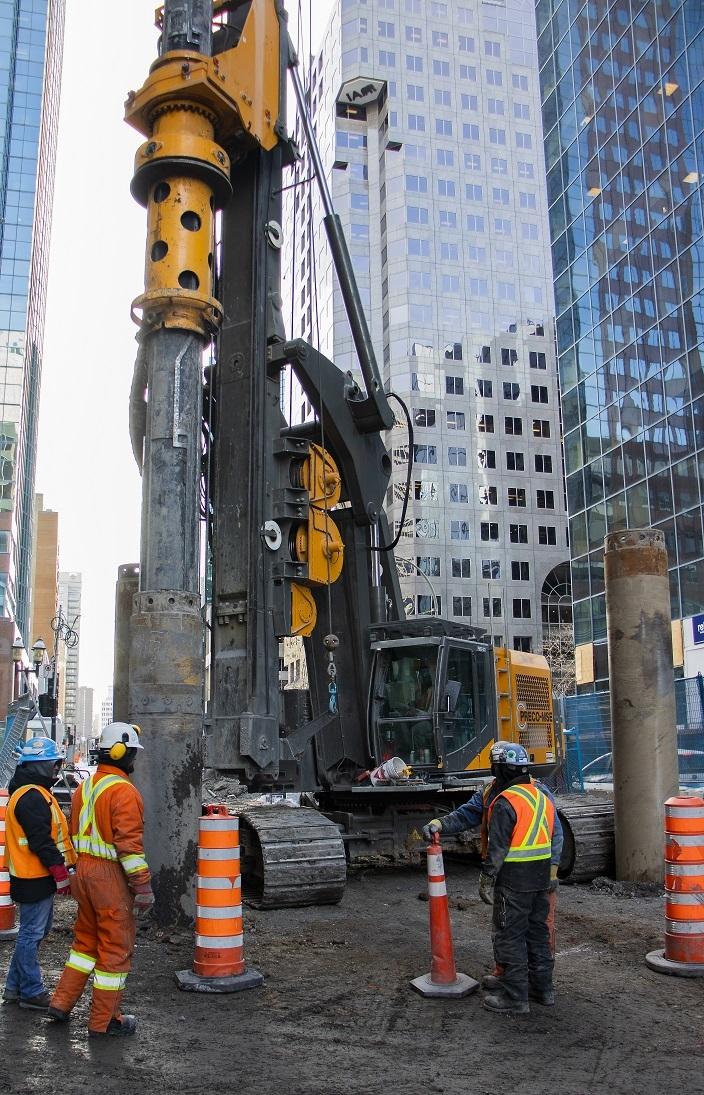 Excavation du tunnel piétonnier de la station McGill - Février 2019