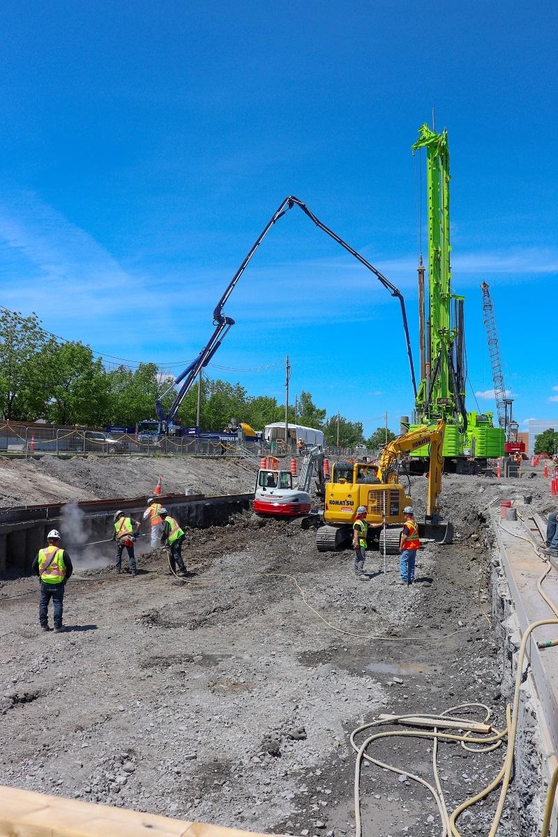Forage au Technoparc avant l'arrivée du tunnelier - Juin 2019