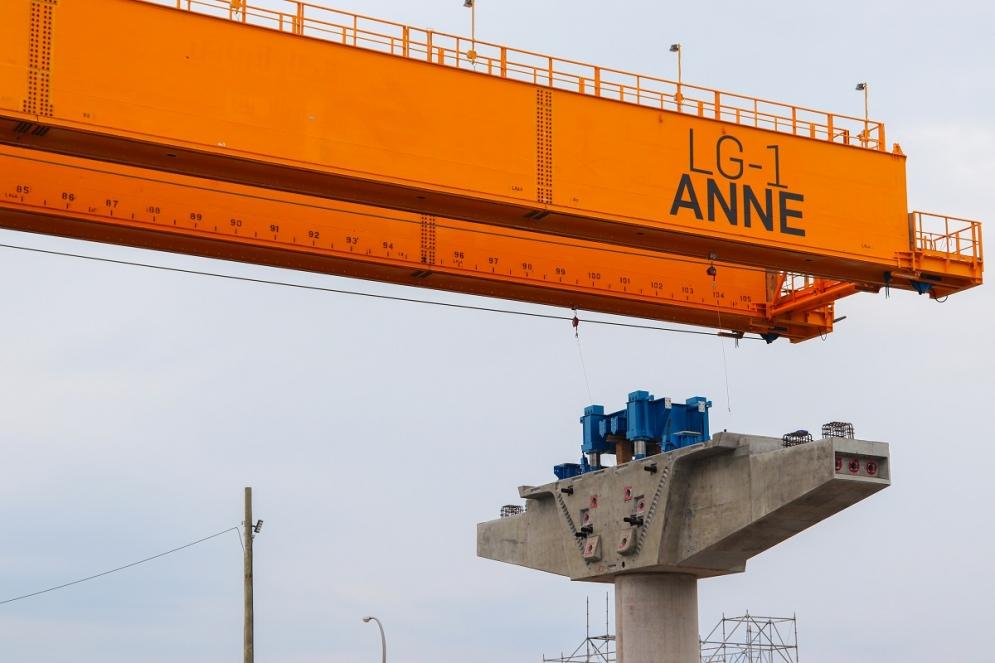 Structure aérienne à Pointe-Claire - Juillet 2019
