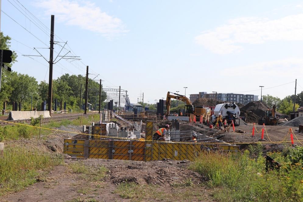 Fondations de la station Bois-Franc - Août 2019