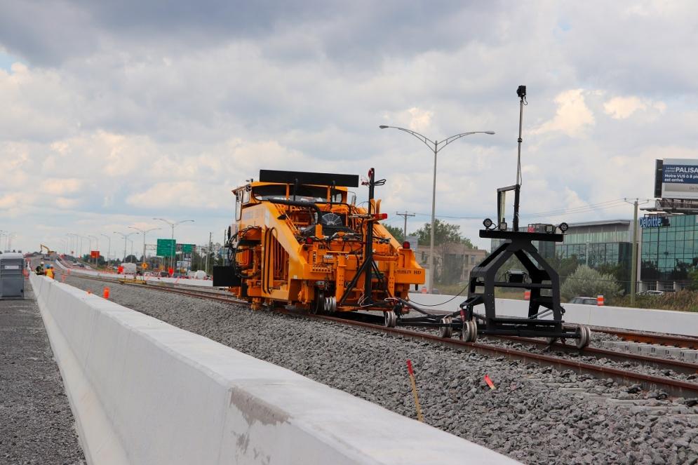 Installation des rails - Août 2019