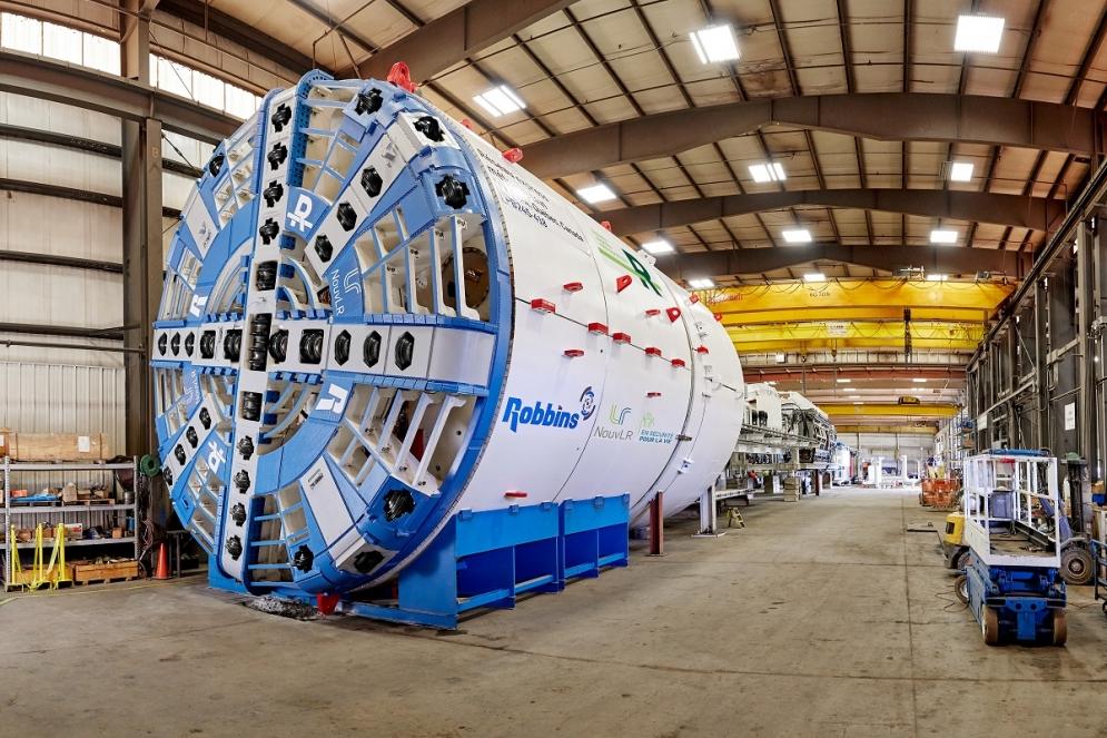 Test d'acceptation du tunnelier dans l'usine Robbins (Ohio, États-Unis) - Septembre 2019