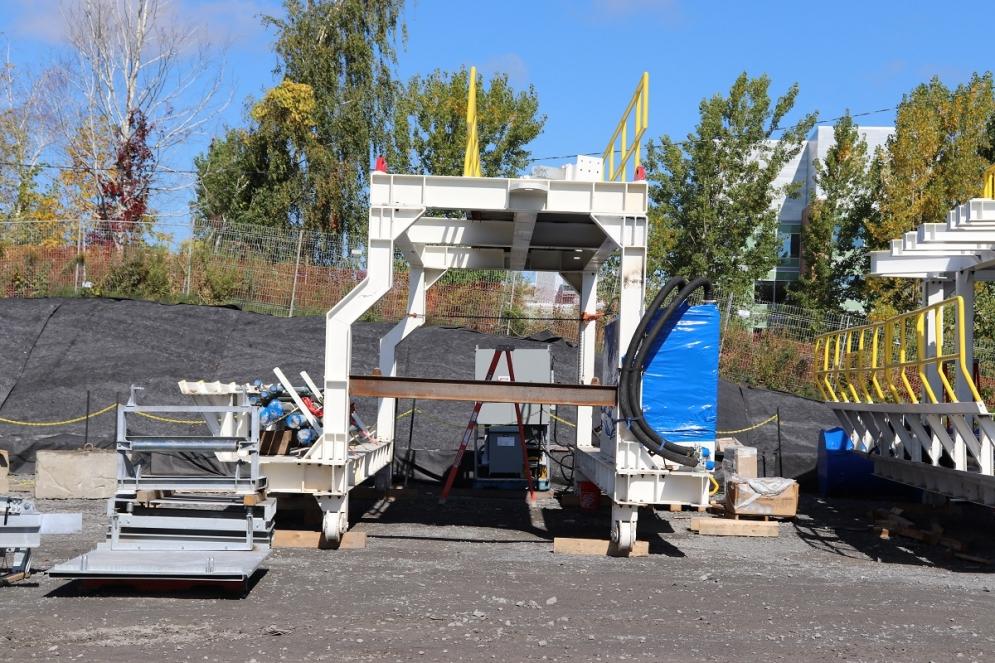 Livraison du tunnelier au Technoparc - Septembre 2019