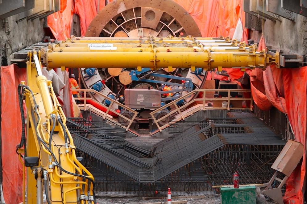 Montage du tunnelier - Décembre 2019