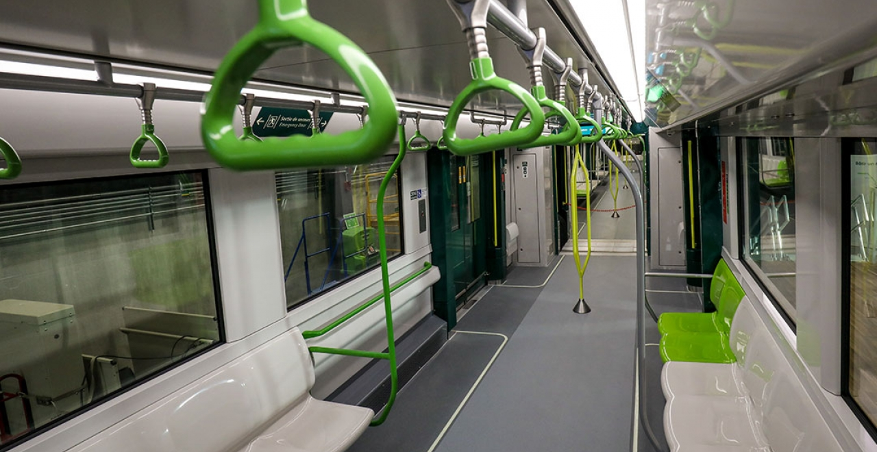 Interior of the REM cars