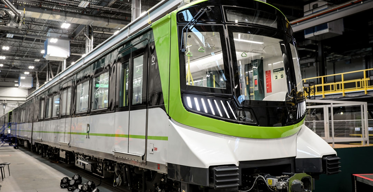 Unveiling of the first REM car in Brossard on November 16, 2020