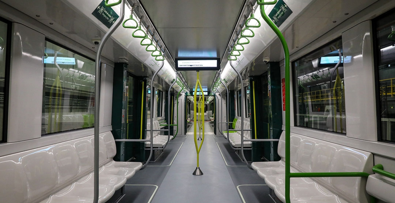 For example the door delimitation (dark green) or the grab bars (fluorescent yellow).