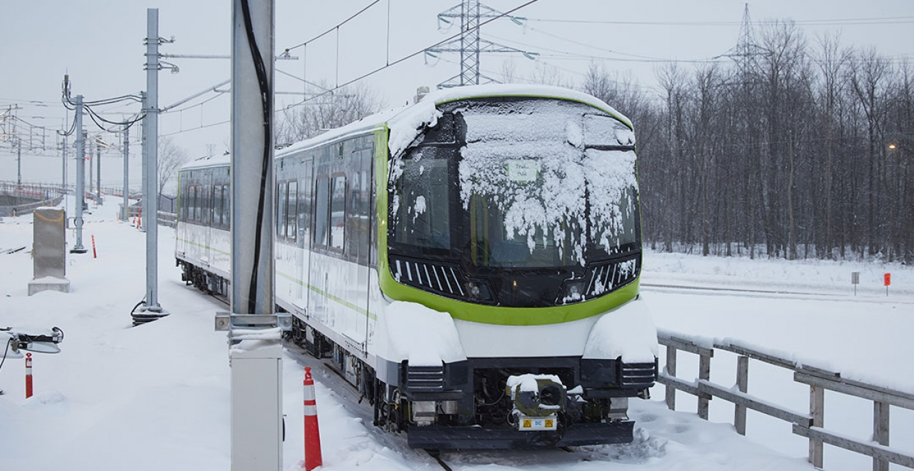 Dynamic tests on the South Shore of Montreal in January 2021 © Alstom / C. Fleury